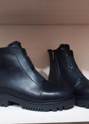 Зимние ботинки натуральная кожа р.36-41