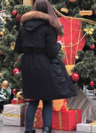 """Женская зимняя куртка """"visdeer""""  темно-синяя"""