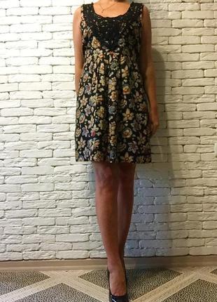 Платье с шитьём miss e-vie