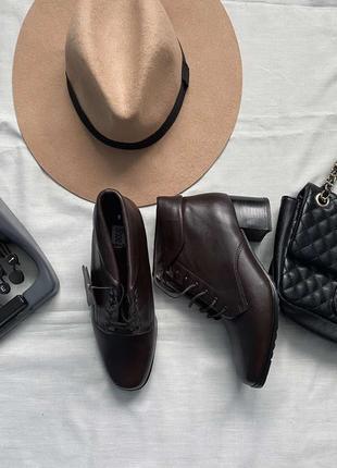Кожаные ботинки осень 38(25)