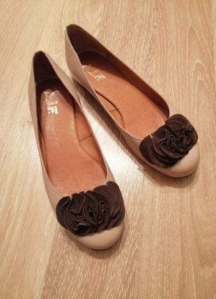 Акция 1+1=3🤑🤩кожаные туфли балетки на низком ходу ajf