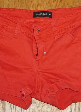 Шорты джинсовые-terranova- 42 размера, xs, 100 котон