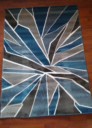 Коврик сине-серый