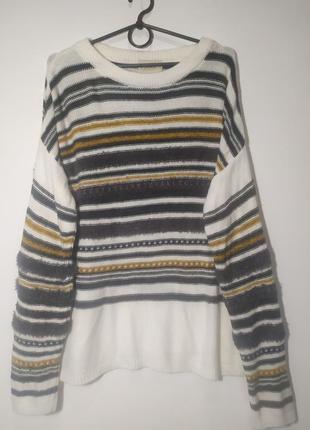 Мягусенький свитер в полоску