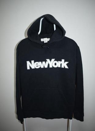 Худи h&m new york черное