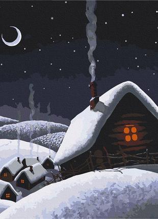 Картина по номерам 40*50 «вечера на хуторе»