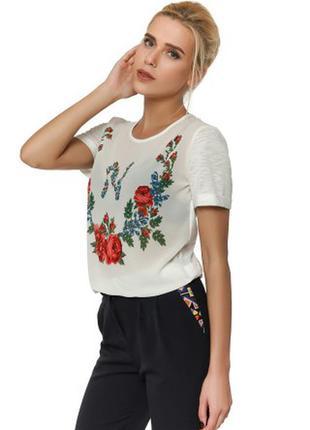 Лёгкая шифоновая футболочка с принтом тм nenka. распродажа