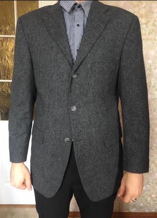 Пиджак tommy hilfiger шерстяной жакет блейзер тёплый зимний