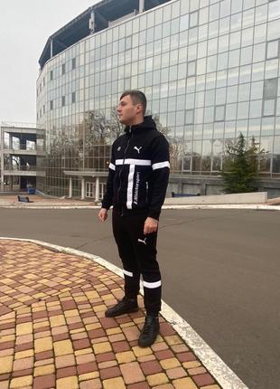 Теплый мужской спортивный костюм на зиму