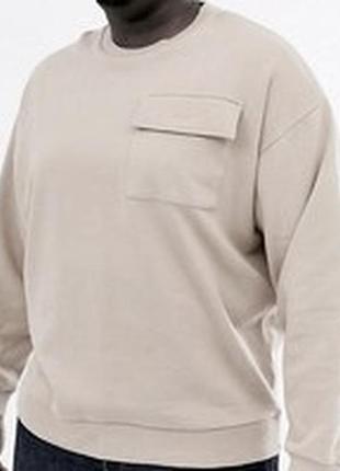 Кофта мужская реглан свитшот беж