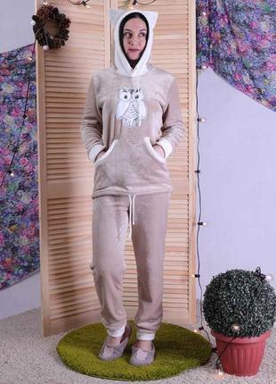 Женская махровая пижама сappuccino.