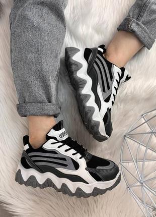 🦓 крутые кроссовки с рефлекторными вставками