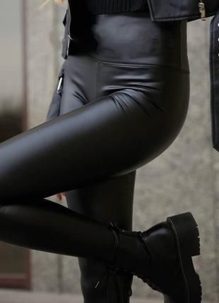 🔹 лосины женский на флисе «широкий пояс»