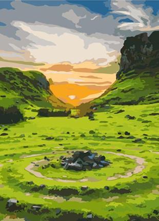 Картина по номерам 40*50 «долина фей. шотландия» пейзаж