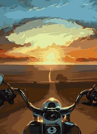 Картина по номерам 40*50 мотоцикл