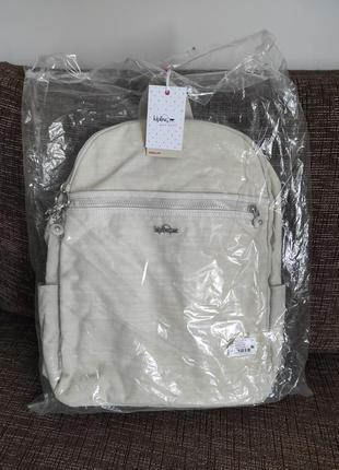 Новый рюкзак для ноутбука kipling сумка  бельгия белый молочный оригинал из европы