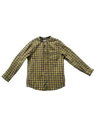 Оригинальная хлопковая рубашка от бренда zara разм. 122(7лет)