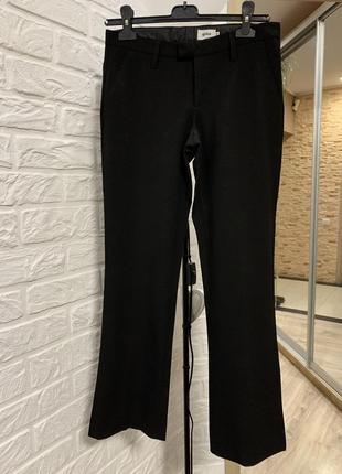 Брюки штаны чёрные прямые