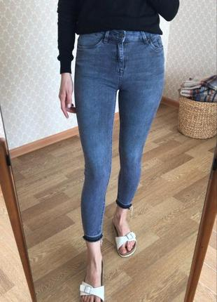 Идеальные джинсы скини на завышенной посадке new look