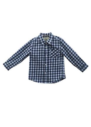 Оригинальная хлопковая рубашка от бренда zara разм. 94(2-3года)