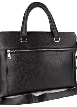 Мужской кожаный деловой портфель,сумка для документов и ноутбука,ділова офісна чорна сумка