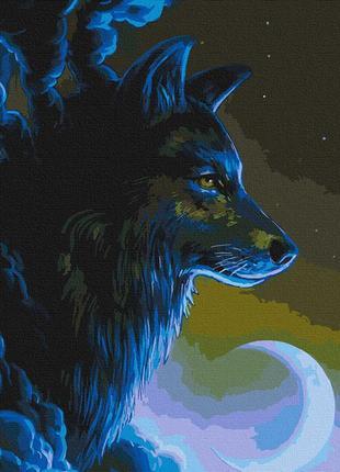 Картина по номерам 40*50 волк