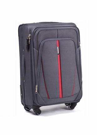 Четырёх колёсный тканевый чемодан wings