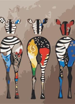 Картина по номерам 40*50 зебры