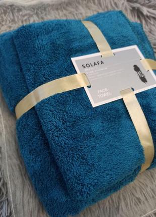 Комплект полотенец баня+для рук, бирюза яркая, отличный подарок, рушники