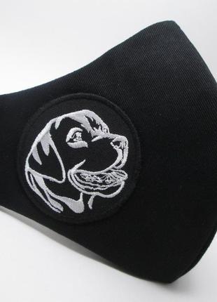 Маска дизайнерская лабрадор защита захист носовой зажим коттон вышивка мв-91