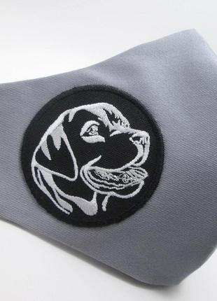 Маска дизайнерская лабрадор защита захист носовой зажим коттон вышивка мв-90