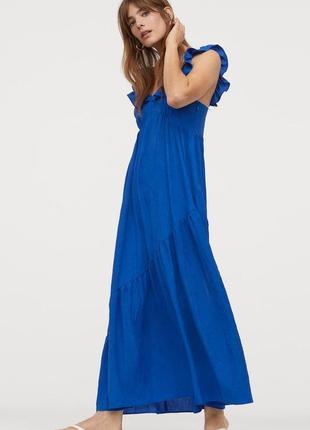 Потрясающе красивое макси платье с оборками