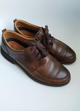 Кожаные туфли ecco,46 размер.