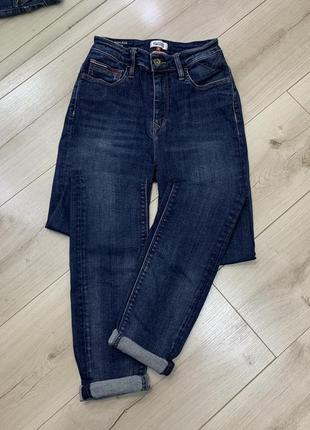 Оригинальные джинсы tommy hilfiger плотный джинс высокая посадка