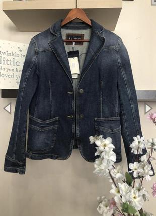 Стильная джинсовая куртка armani jeans, джинсовый пиджак