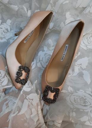 Manolo blahnik* туфли лодочка свадебные вечерние