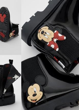 Лаковые ботинки с микки и минни