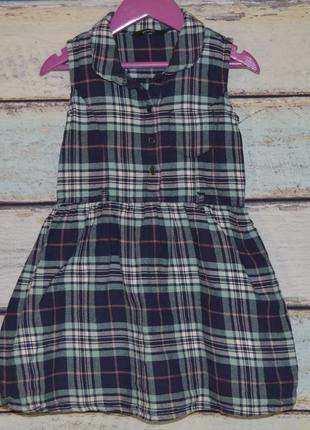 Стильное платье, 4-5 л сарафан, в клетку, клеточку, клетчатый, клетчатое