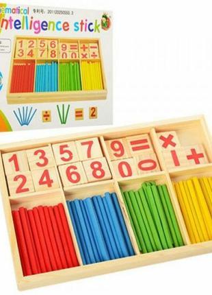 Математика деревянные палочки