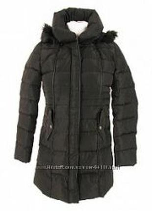 Пальто naf naf на пуху 90 к 10 новое. с бирками