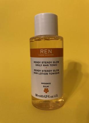 Тоник для лица рен ren ready steady glow daily aha tonic 50 мл