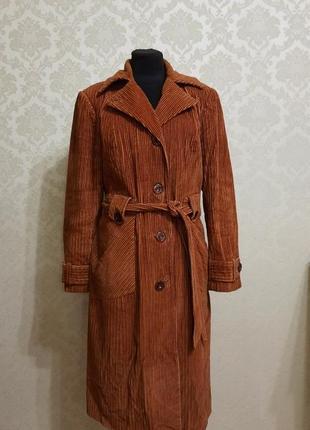 Вельветовый плащ / пальто