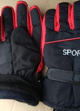 Подростковые лыжные непромокаемые перчатки