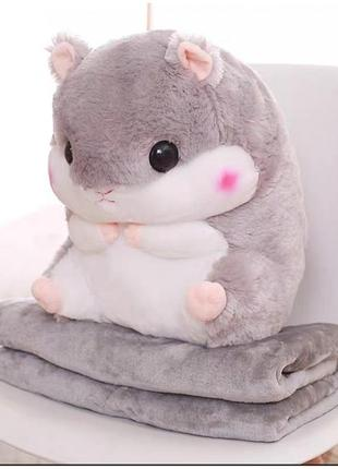 Плед игрушка подушка