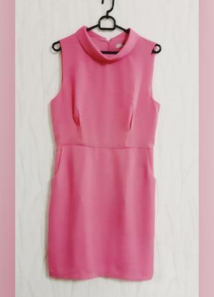 Элегантное короткое облегающее розовое платье-футляр forever 21 акция!