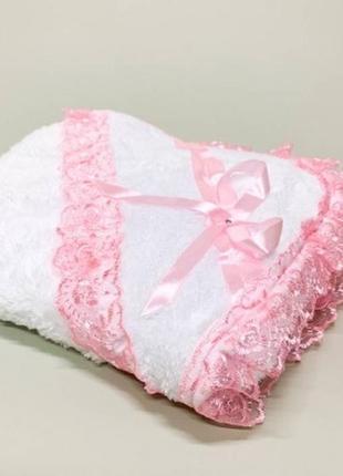 Крыжма уголок розовый кант