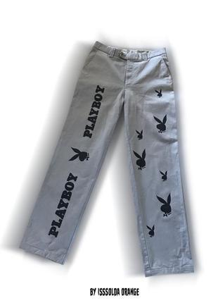 Скейтерские брюки джинсы штаны custom playboy skate