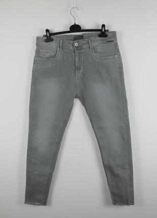 Крутые стильные джинсы zara man light wash smart fit denim