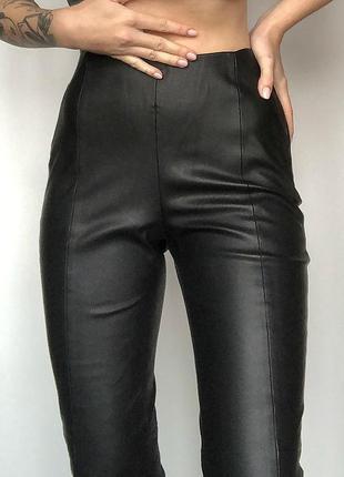 Кожаные лосины zara , кожаные штаны zara