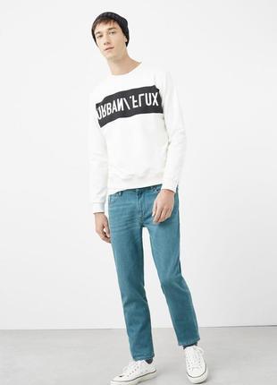 Стильные качественные джинсы mango slim-fit jerry jeans